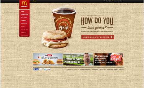 Diseño gráfico valencia Macdonalds web 2014
