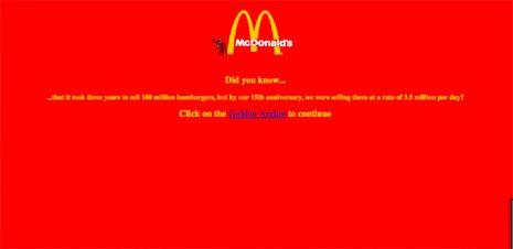 Diseño gráfico valencia Macdonalds web 2006