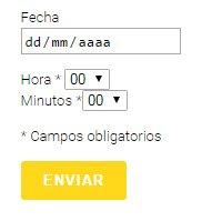 reserva formulario horas contact form wordpress 01