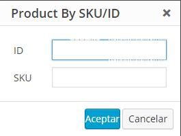 Configuración del shortcode para mostrar el producto
