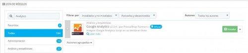 Módulo Prestashop para vincular Analytics a tu tienda online