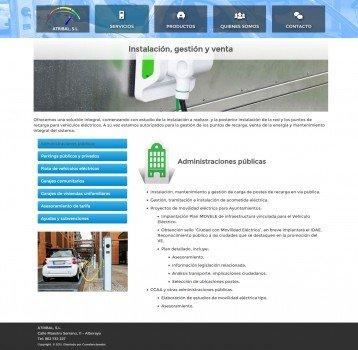 atribal pagina servicios wordpress valencia