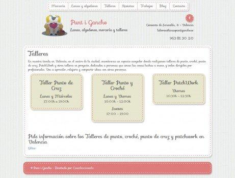 diseño web merceria punt i gancho valencia 02