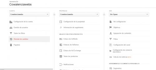 Medir formulario de contacto con Analytics, Estructura de una cuenta de Analyics