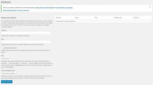Atributos de productos variables en Woocommerce. Cowalenciawebs