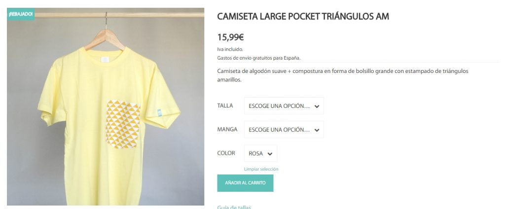 productos variables en Woocommerce. Cowalenciawebs