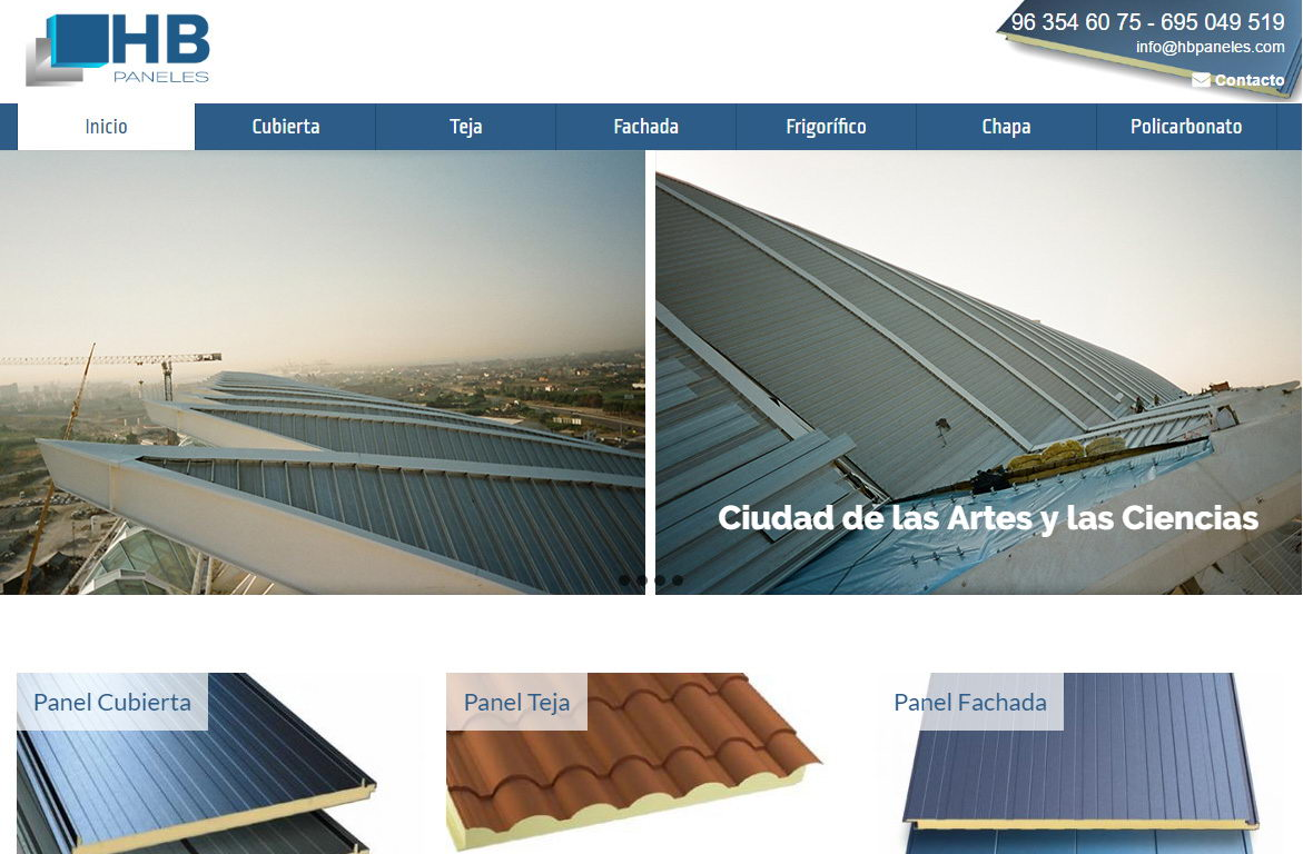 Dise o web para empresa de paneles s ndwich covalenciawebs - Empresas de diseno ...