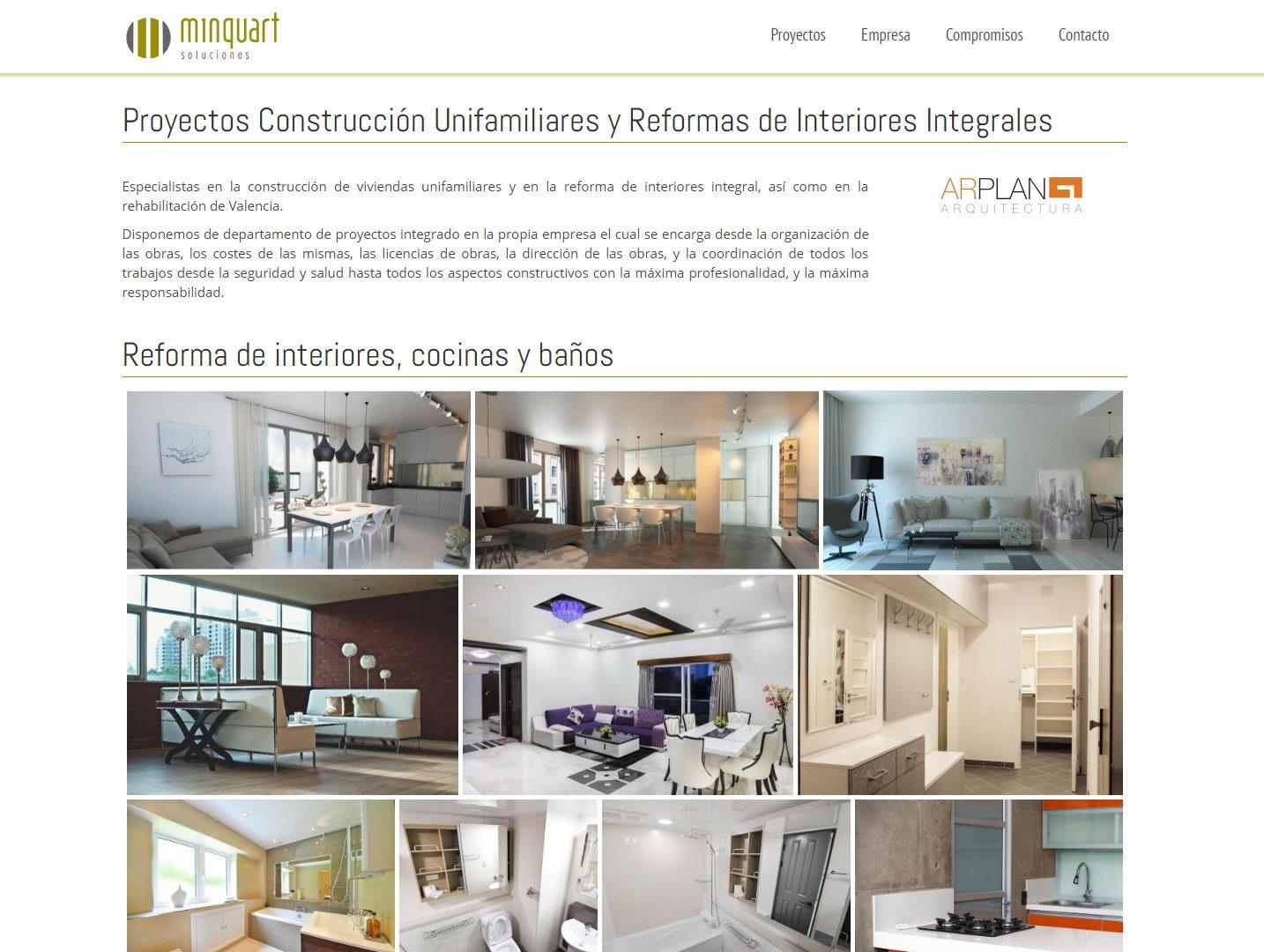 minquart soluciones empresa construccion reformas valencia diseño web wordpress galeria