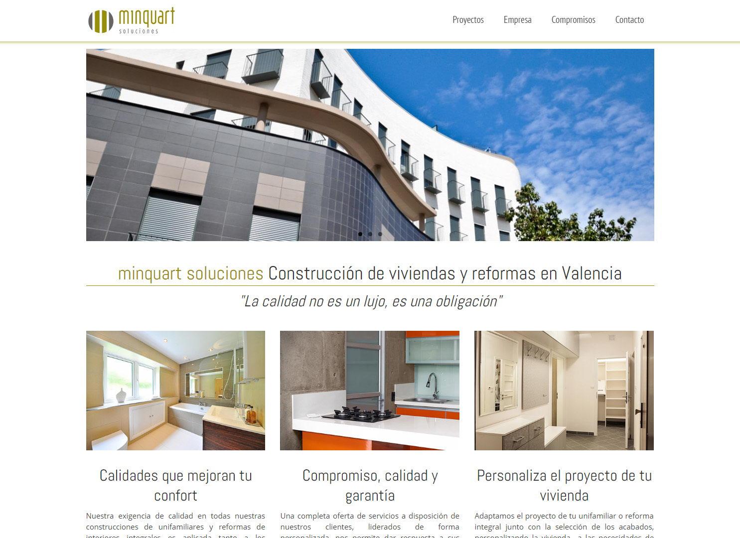 Dise o web para empresa de construcci n y reformas covalenciawebs - Empresas construccion valencia ...