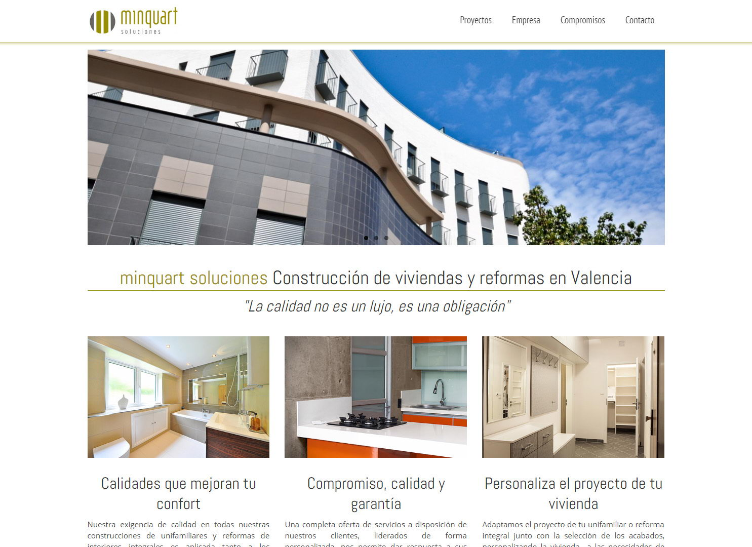 minquart soluciones empresa construccion reformas valencia diseño web wordpress