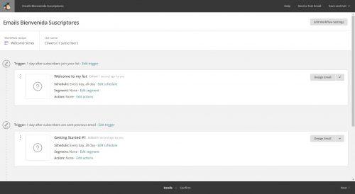 Automation MailChimp. Secuencia de emails en mailchimp