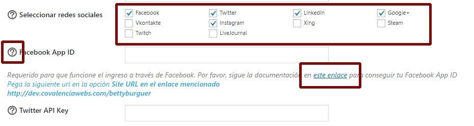 Loguearse con Facebook Twitter Instagram en tu tienda WooCommerce linkedin enlace api