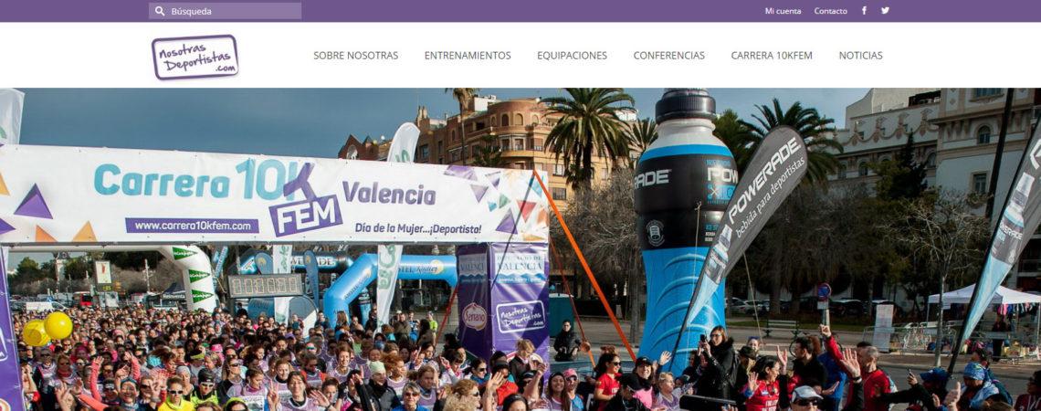 nosotras deportistas valencia diseño web