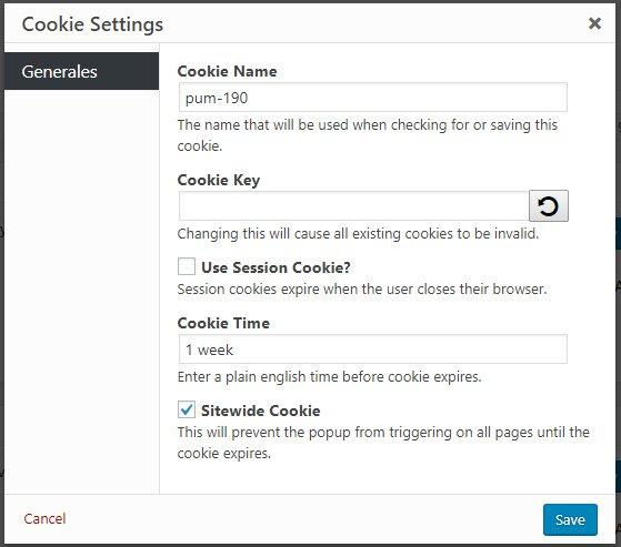 Crear popups en WordPress con Popup Maker cookies configurar