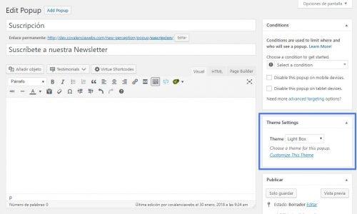 Crear popups en WordPress con Popup Maker nuevo