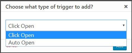 Crear popups en WordPress con Popup Maker triggers selector