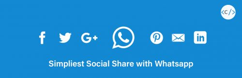 plugin Simpliest Social Share with whatsapp