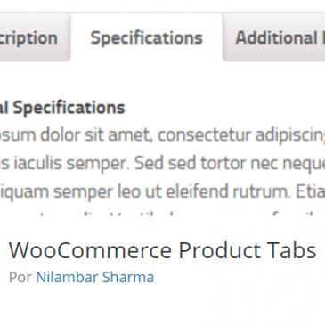 añadir pestañas a los productos de woocommerce