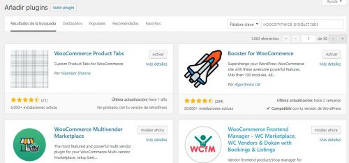 instalacion plugin woocommerce product tabs